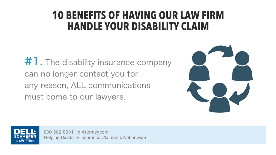 1. The disability insurance company can no longer