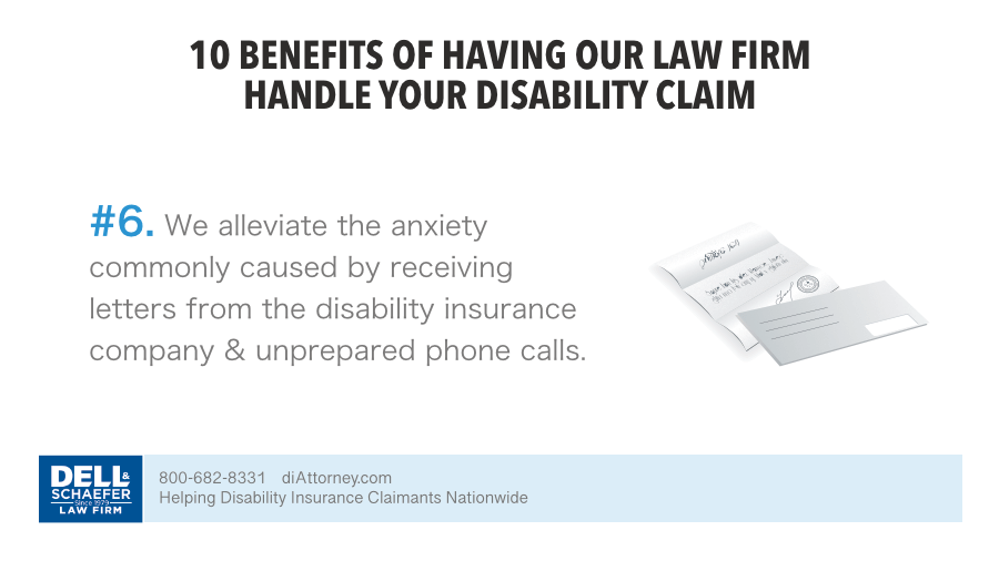 6. We alleviate the anxiety