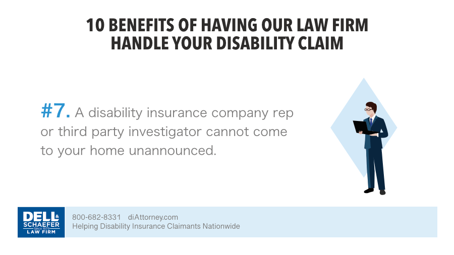 7. A disability insurance company rep or third party