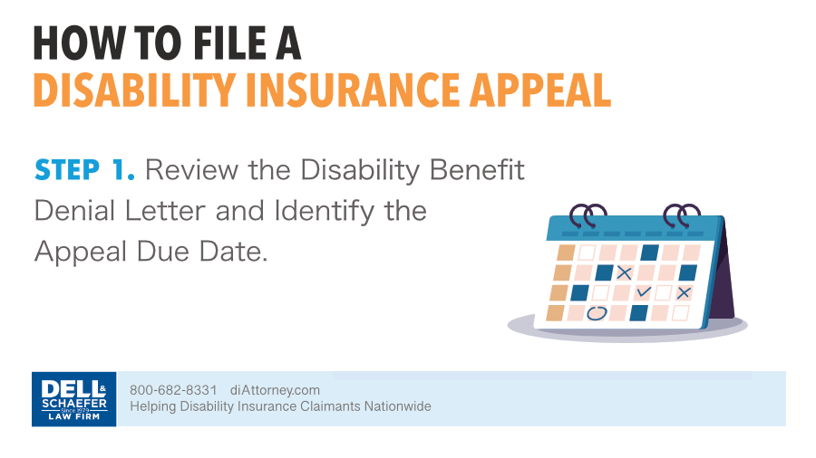 1. Review The Disability Benefit Denial Letter And Identify The Appeal Due Date