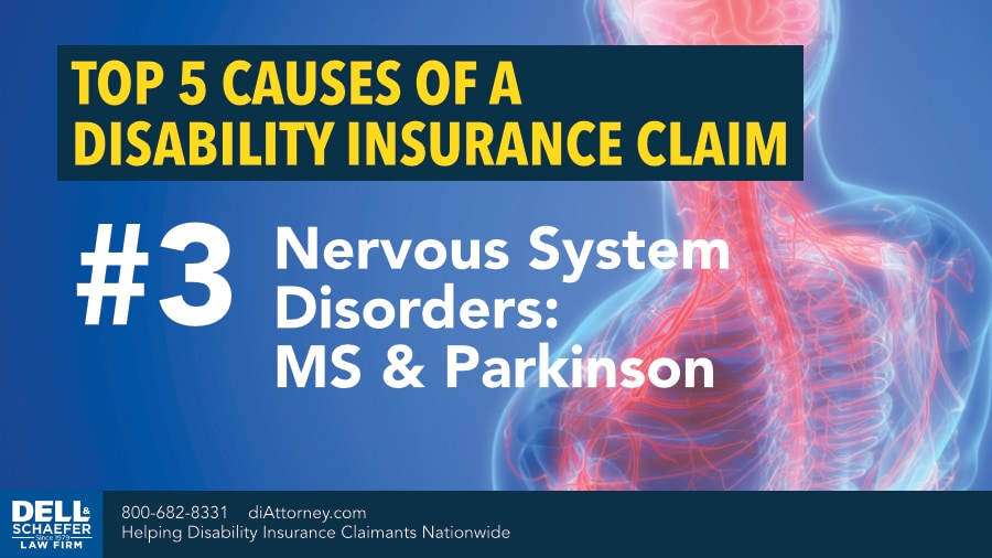 Top 5 Causes of Disability Insurance Claims: 3. Nervous System Disorders (MS, Parkinson's)