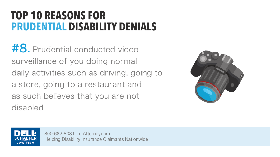Based on video surveillance Prudential denied disability claim