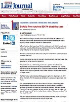 Disability ERISA appeal won on behalf of a man who was twice-denied long-term disability status