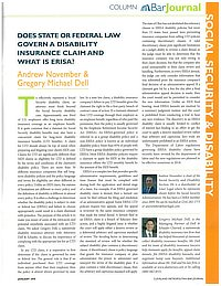 Does State or Federal Law Govern a Disability Insurance Claim and What is ERISA?