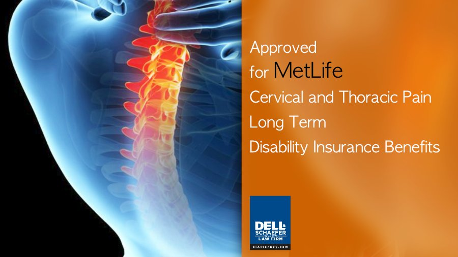 Metlife neck pain disability claim