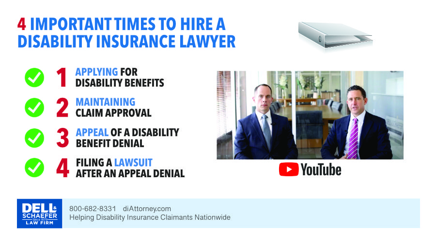 There are 4 Times You Can Hire a Disability Insurance Attorney: Applying, Monthly Claim Handling, The Appeal Process & the Litigation Process