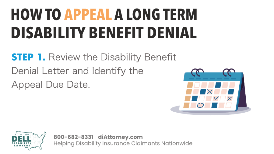 Review The Disability Benefit Denial Letter And Identify The Appeal Due Date