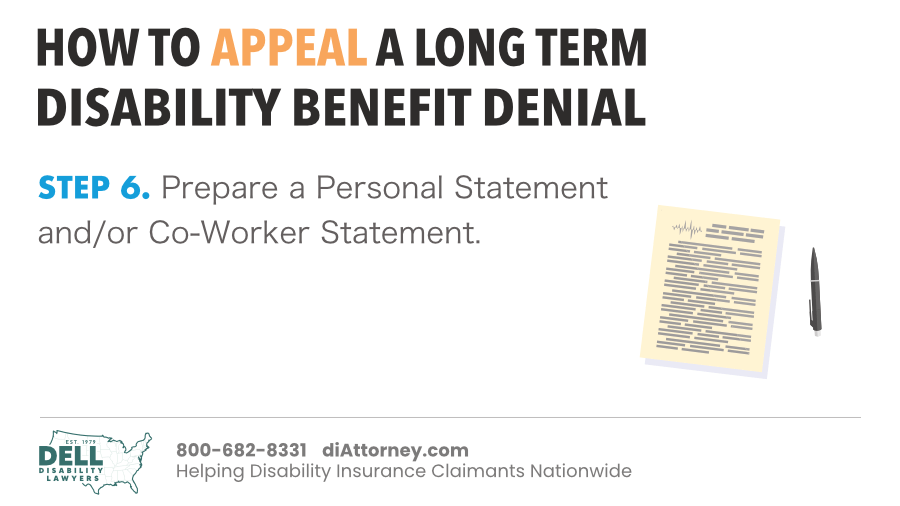Prepare A Personal Statement And/Or Co-Worker Statement