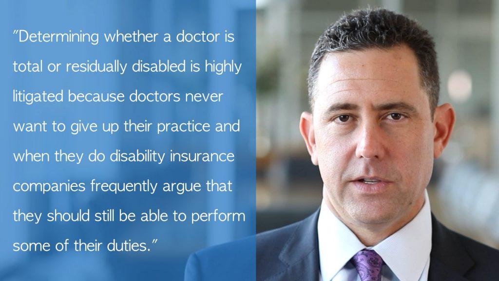 doctor disability claim