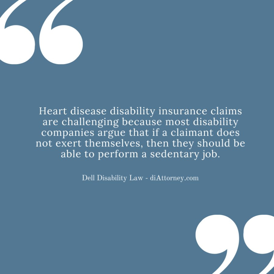 lawyer help for heart disease disability insurance claim