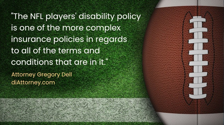 NFL player disability insurance claim