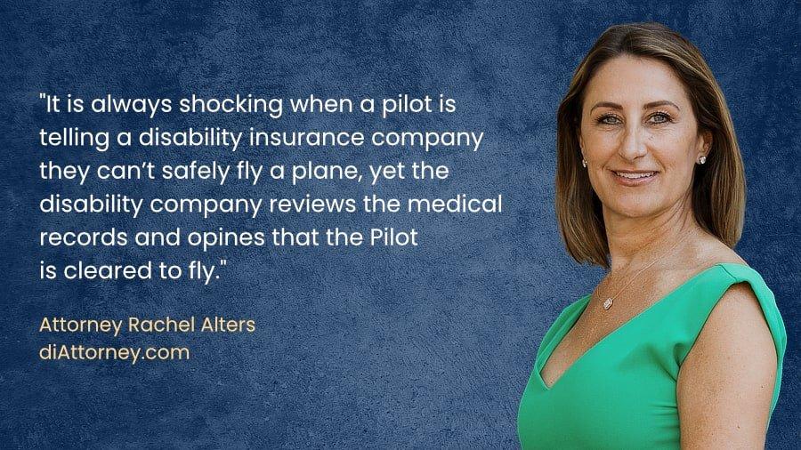 Airline pilot disability benefits claim