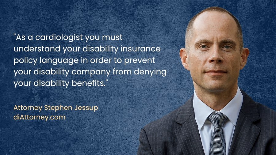Cardiologist disability insurance benefits claim