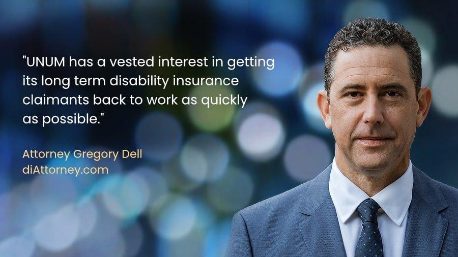 Unum disability insurance claim