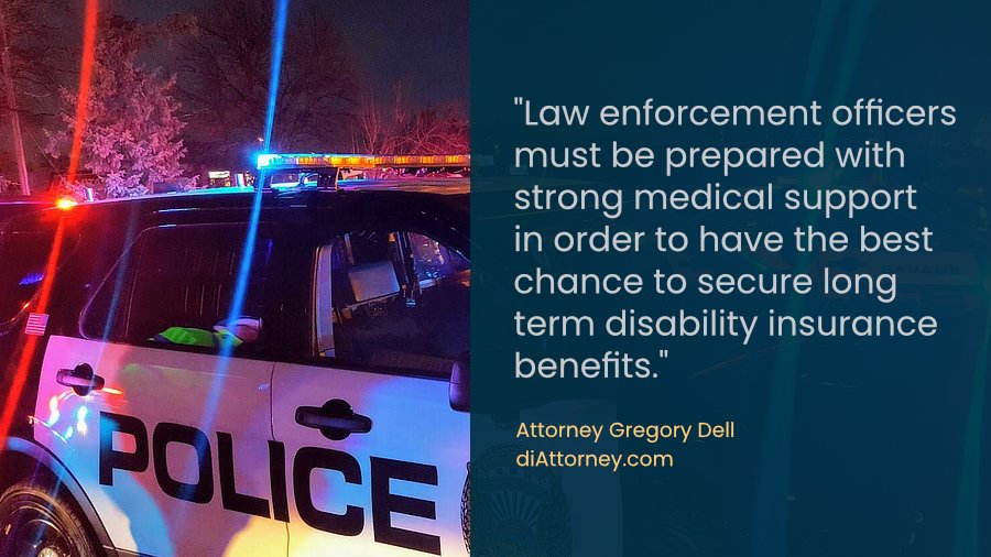 Police officer disability insurance claim